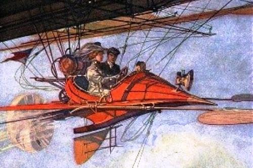 Sketsa Pesawat Terbang