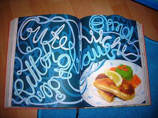 Kochbuchkunst aufgeschlagen