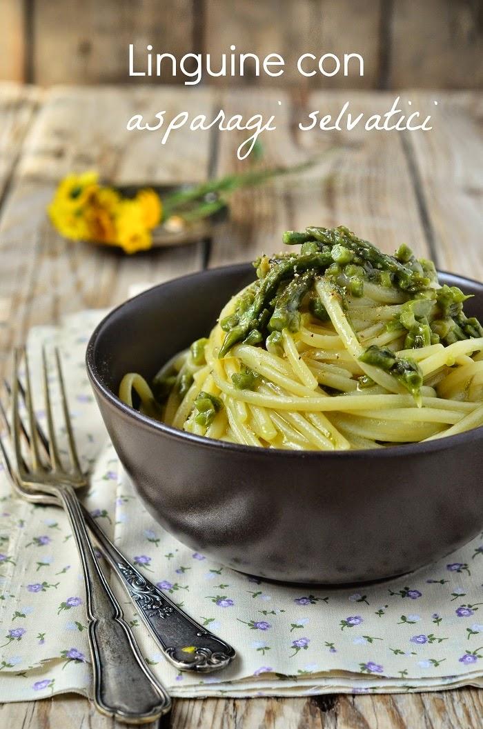 linguine con asparagi selvatici