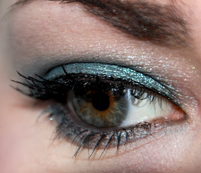 estee lauder noel 2011 cyber eyes cyber teal fard à paupières test swatch blog id=