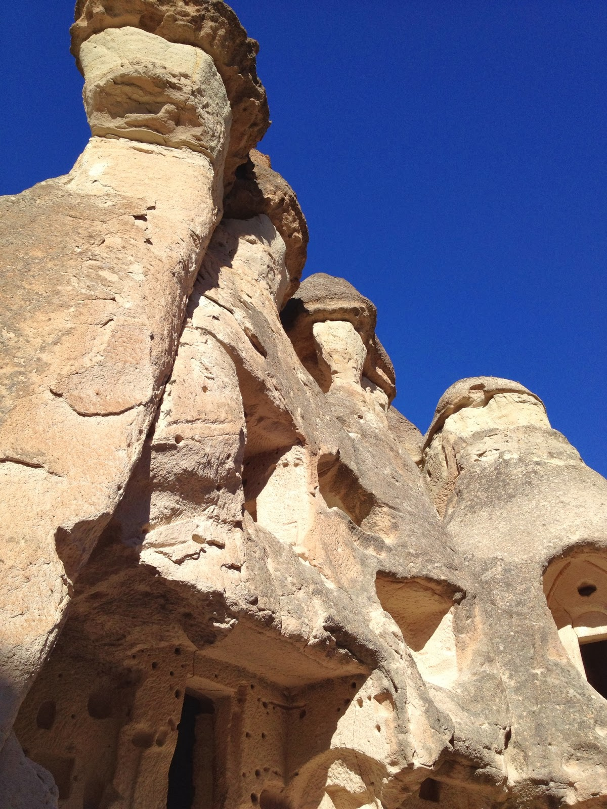 Cappadocia - We get to go inside homes made out of Fairy Chimneys rock formations