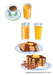 Zumo, cafe y tostadas