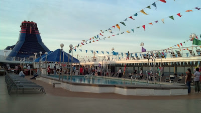 swimming pool on the ship