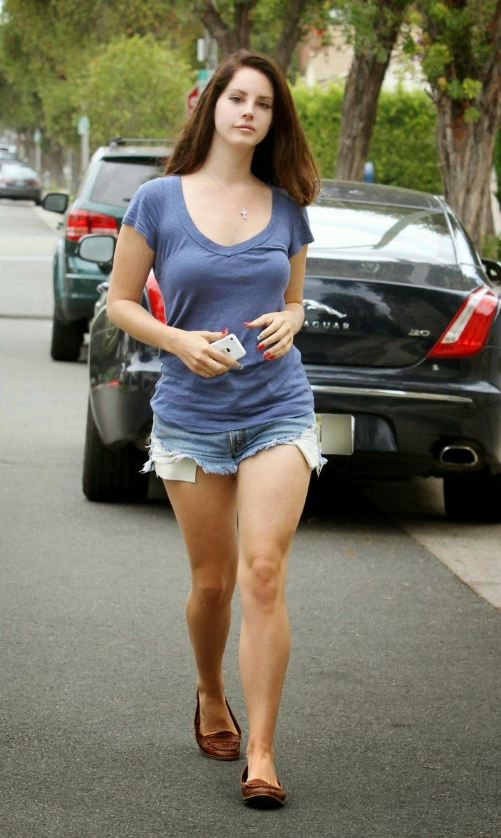 Lana Del Rey in Denim Shorts Photoshoot