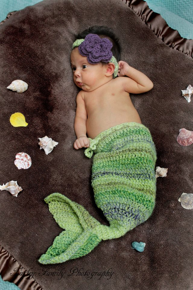 Knotty Knotty Crochet Baby Mermaid Prop Pattern