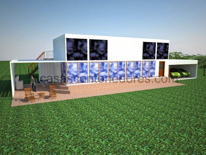 CASAS CONTENEDORES: Diseño de casa contenedor de grandes dimensiones