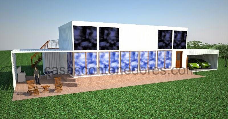 Casas contenedores dise o de casa contenedor de grandes - Diseno de casas con contenedores ...
