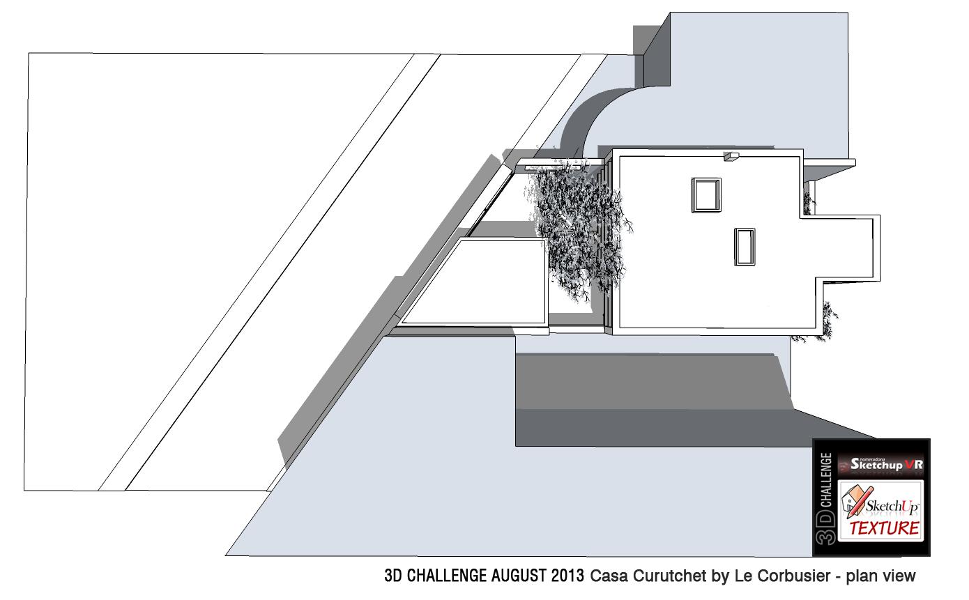 Sketchup texture le corbusier casa curutchet 3d challenge for Plan maison sketchup
