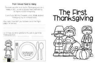 https://www.teacherspayteachers.com/Product/The-First-Thanksgiving-Booklet-2209206