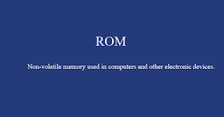 ROM - read-only memory