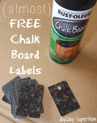 diy Chalk Board Labels