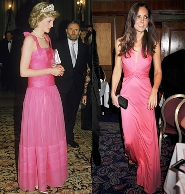 Princess Diana Spencer and Kate Middleton