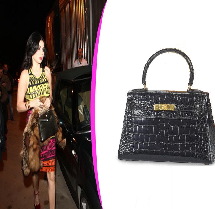 hermes saddle cover - Haifa wehbe fashion and jewelry: Haifa wehbe hermes mini kelly bag