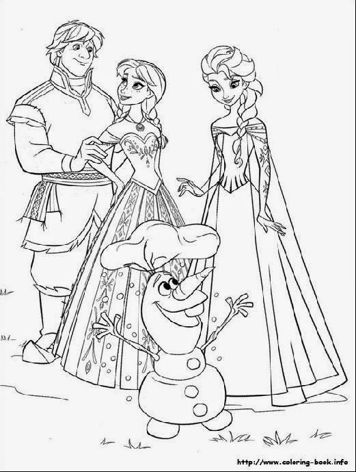 Frozen Coloring Pages Black And White : Frozen color sheets free coloring pictures