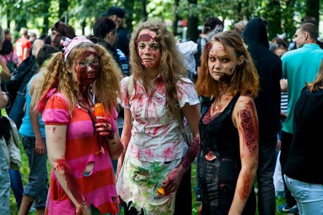 Zombie Walk at St.Petersburg