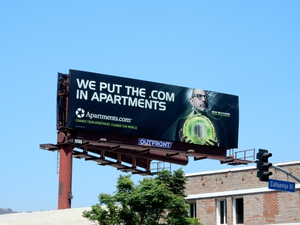 We put the dot com in apartments Jeff Goldblum billboard