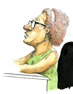 susan brown wilson city council harrisburg pa caricature ammon perry illustration