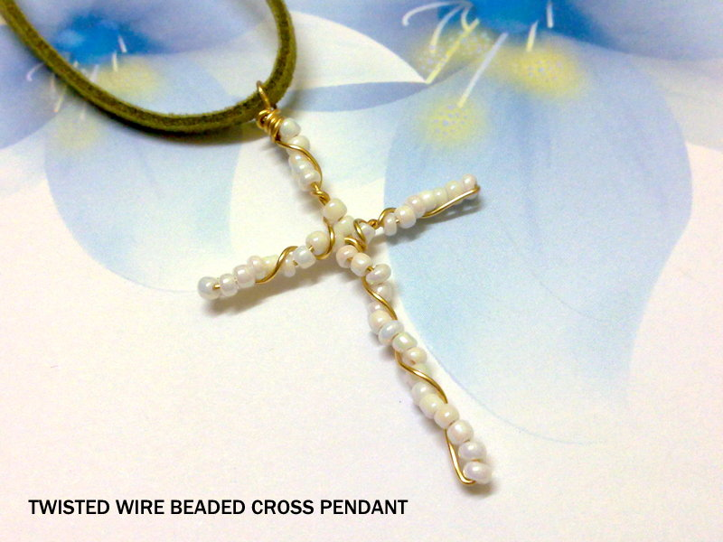 Emily secret passions free tutorial twisted wire beaded cross pendant free tutorial twisted wire beaded cross pendant aloadofball Choice Image