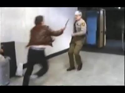 Screen cap for the video Knife vs Gun
