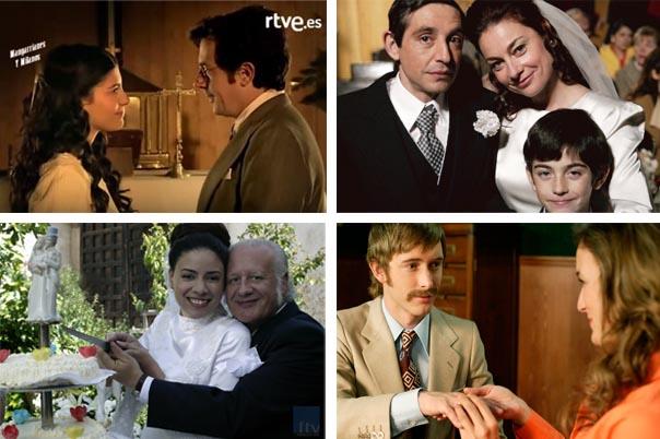 Inés y Eugenio, Desi y Clara, Paquita y Miguel, Toni y Juana, bodas cuéntame, parejas