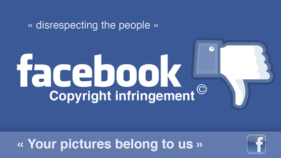 Facebook is pretending to have the right to steal anything you publish on their page.