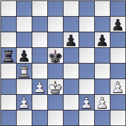 Posición partida de ajedrez Medina-Rossetto1946, posición después de 34… Rd5