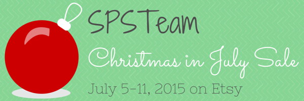 Shop the SPS Team's Christmas in July Sale event July 5-11 on Etsy.