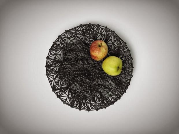 impresión 3D, decoración. Cesto con frutas