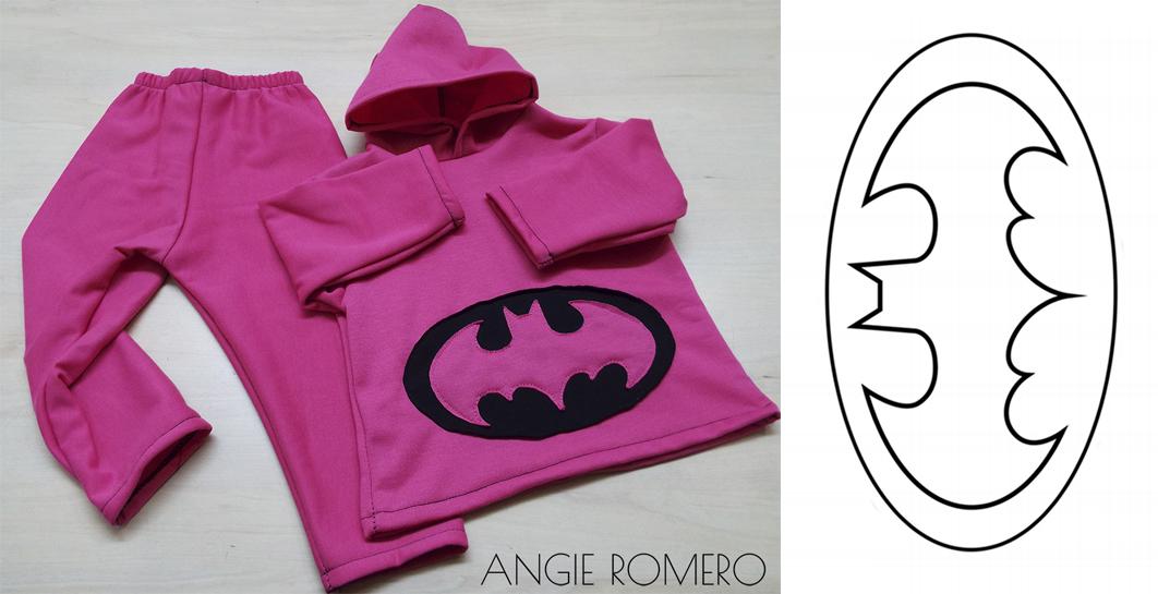 Plantilla logo Batman - sudadera completa sin moldes