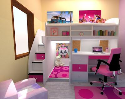 Dormitorios infantiles recamaras para bebes y ni os dormitorio infantil peque o compartido - Dormitorio infantil nina ...