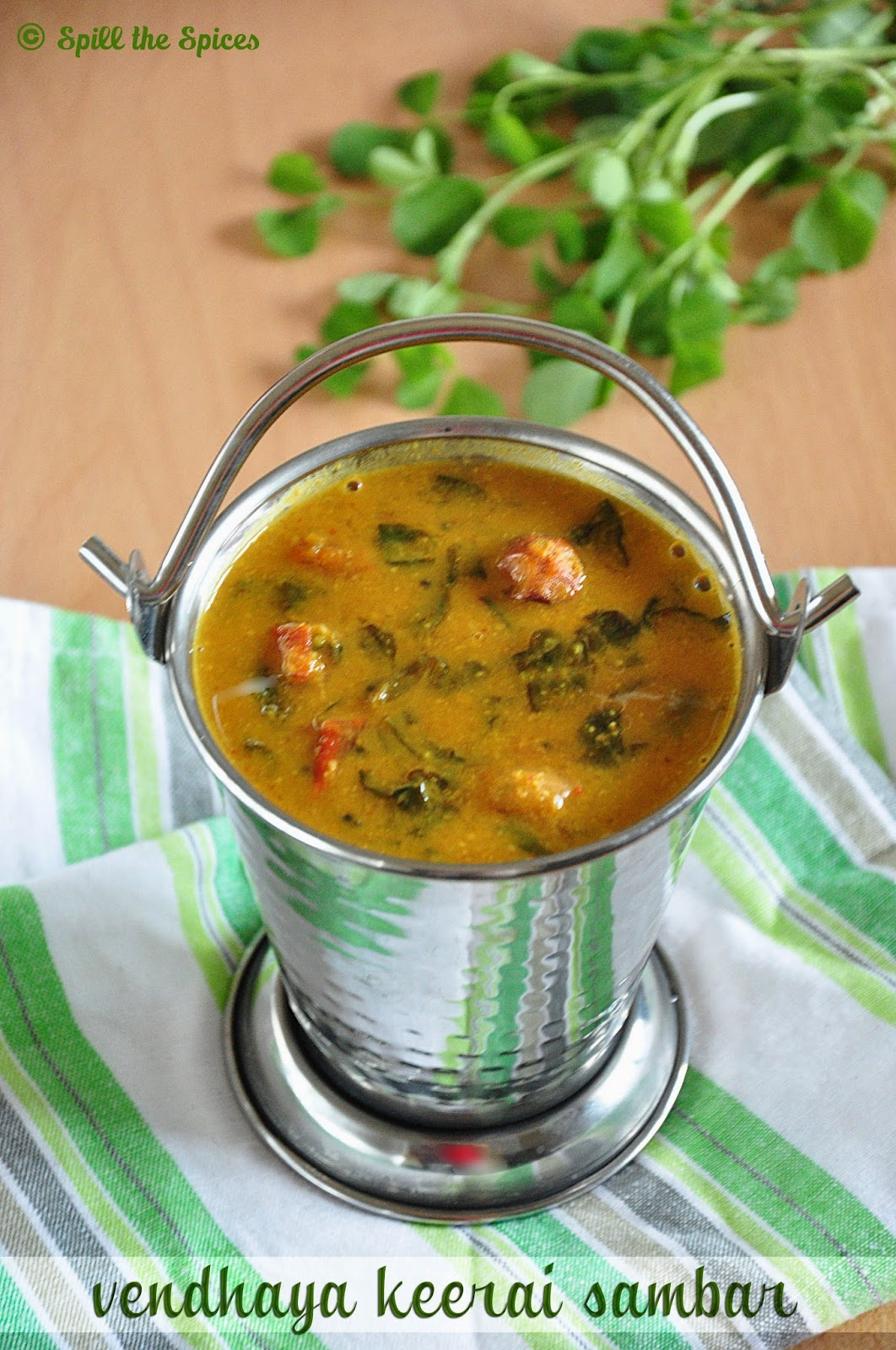 Vendhaya Keerai Sambar Methi Leaves Sambar Spill the Spices