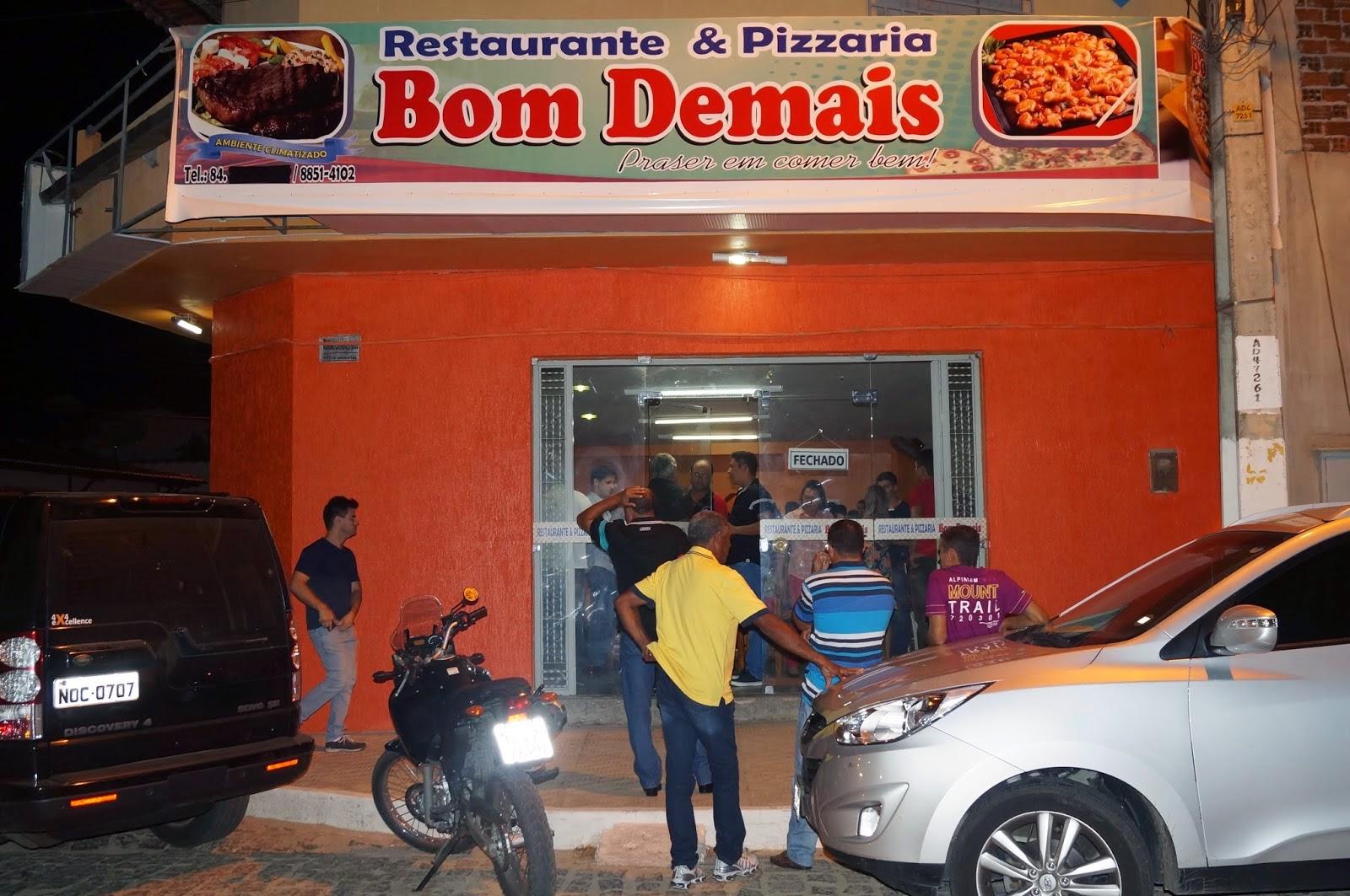 Visite o Restaurante e Pizzaria Bom Demais em Santa Cruz-RN