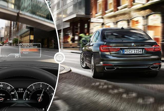 フルモデルチェンジ BMW 7シリーズ ヘッドアップディスプレイ