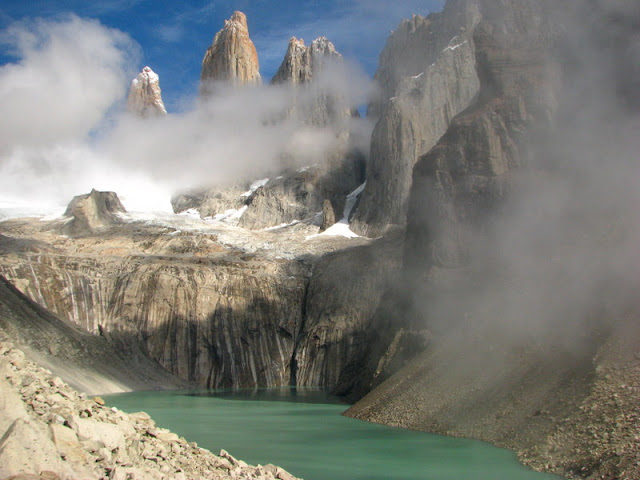 torres del paine lake patagonia chile