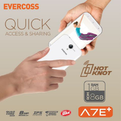Evercoss A7E Plus - Hp Quadcore Ram 1 GB 700 Ribuan