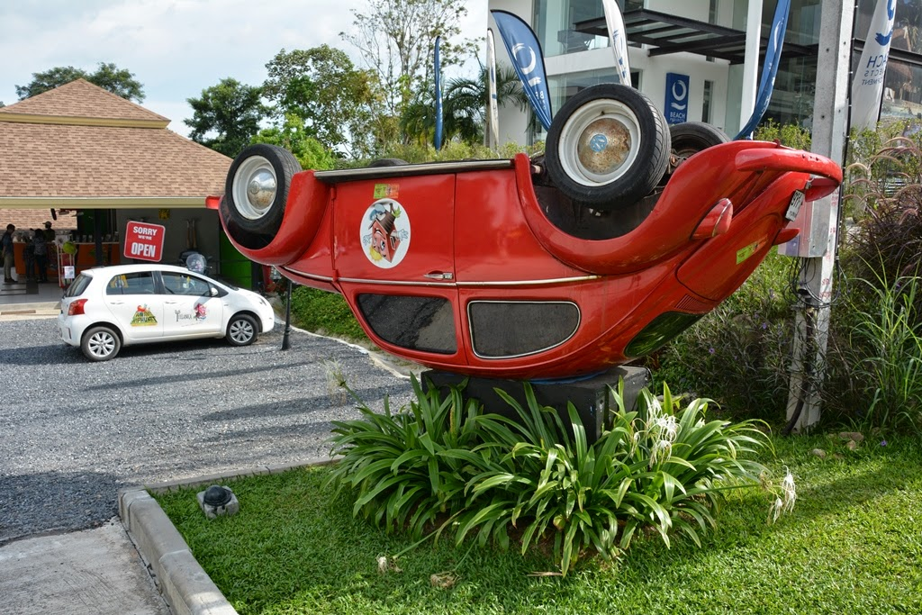 Upside down house Phuket car
