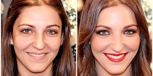 maquillaje antes y despues para ojos azules
