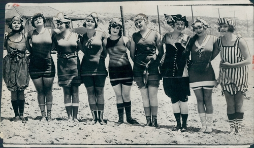 vintage picture beach