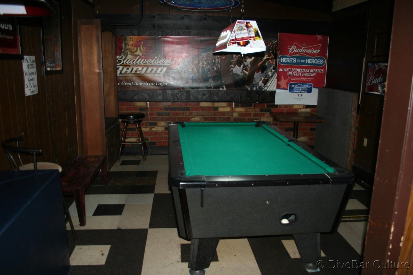 DiveBar Culture Flite Room Lakewood CA - Great american pool table