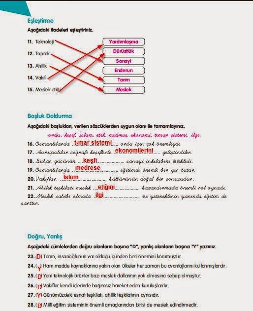 7 Sınıf Sosyal Bilgiler Ders Kitabı 130sayfa Cevapları Sosyal