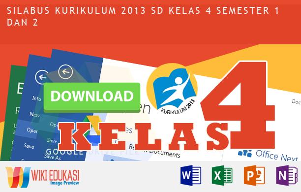Silabus Integrasi KURIKULUM 2013 SD KELAS 4 Revisi Rekomendasi Terbaru
