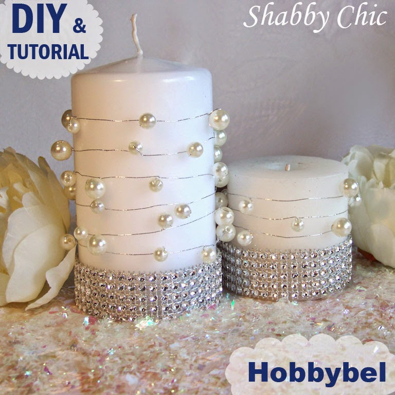 Hobbybel creativit candele decorate con perle tutorial for Candele decorate
