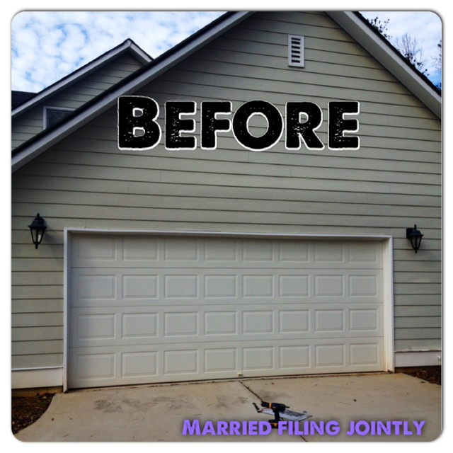 So I Made Some Tea And Supervised As My Wonderful Husband Fancified Our Garage  Door. An Hour Later We Had The Finished Product: