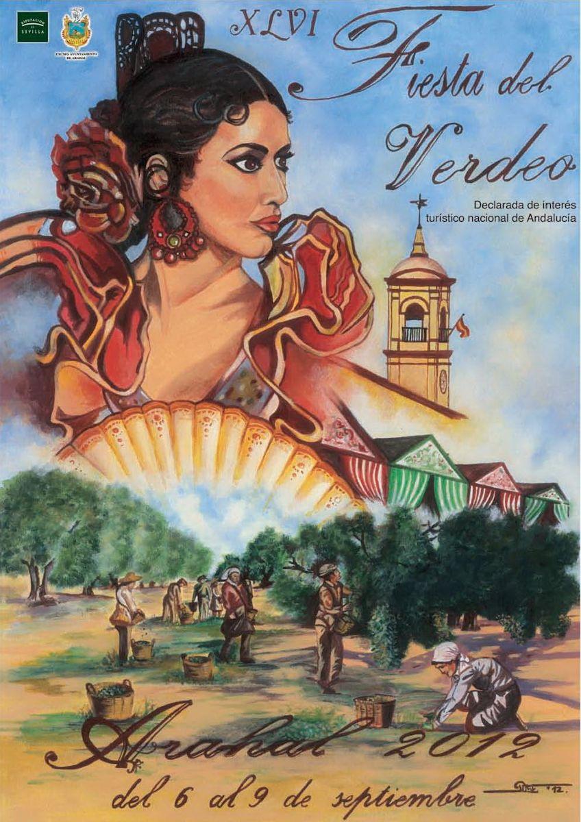 Cartel de La Fiesta del Verdeo, celebración más importante de Arahal.