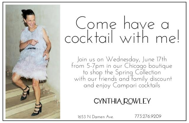 Join Cynthia Rowley at her Chicago store for a cocktail soiree