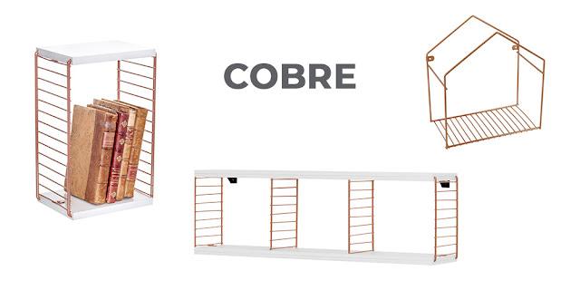 Cubo decorativo horizontal Aramado e madeira