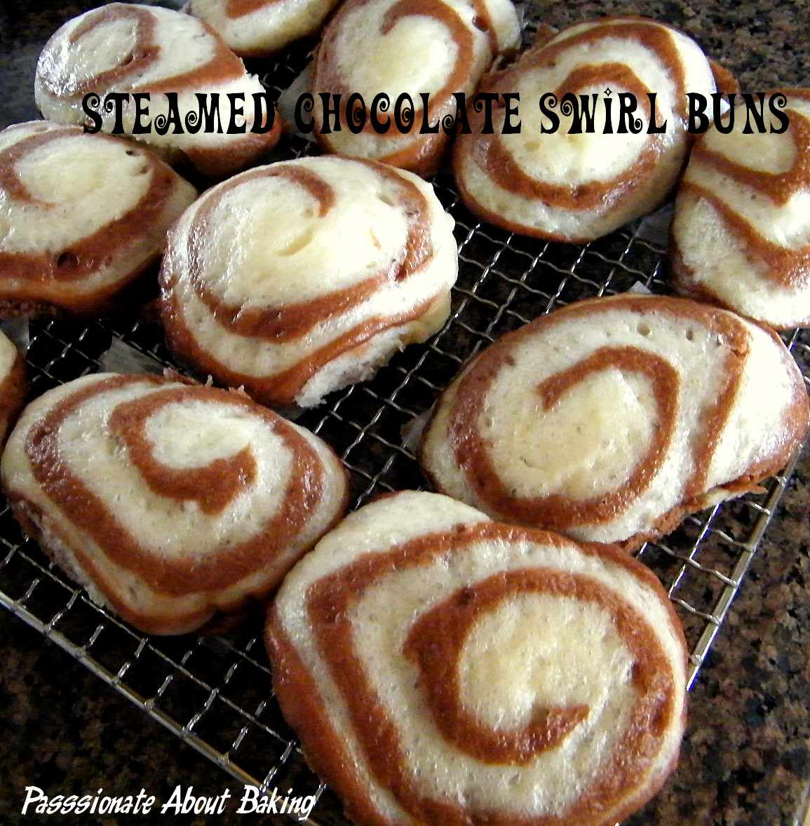 Steamed Chocolate Swirl Buns | Passionate About Baking
