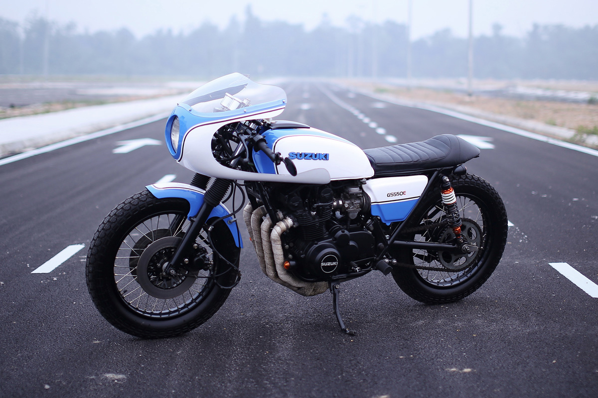 Cooley Suzuki GS550 Cafe Racer Return of the Cafe Racers