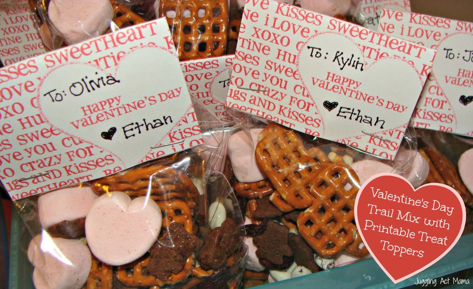 Valentineu0027s Day Trail Mix U0026 Treat Bag Toppers