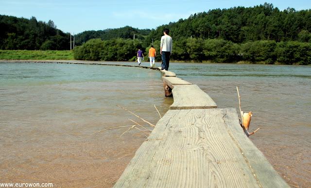 El puente más estrecho de Corea